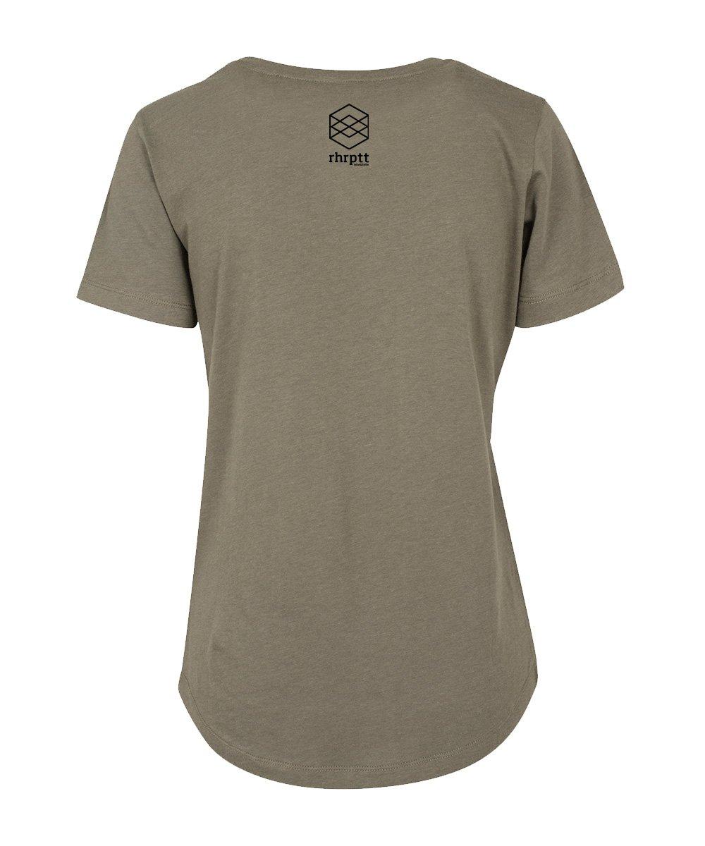 rhrptt t-shirt fit tee rundmc olive brandlogo hinten