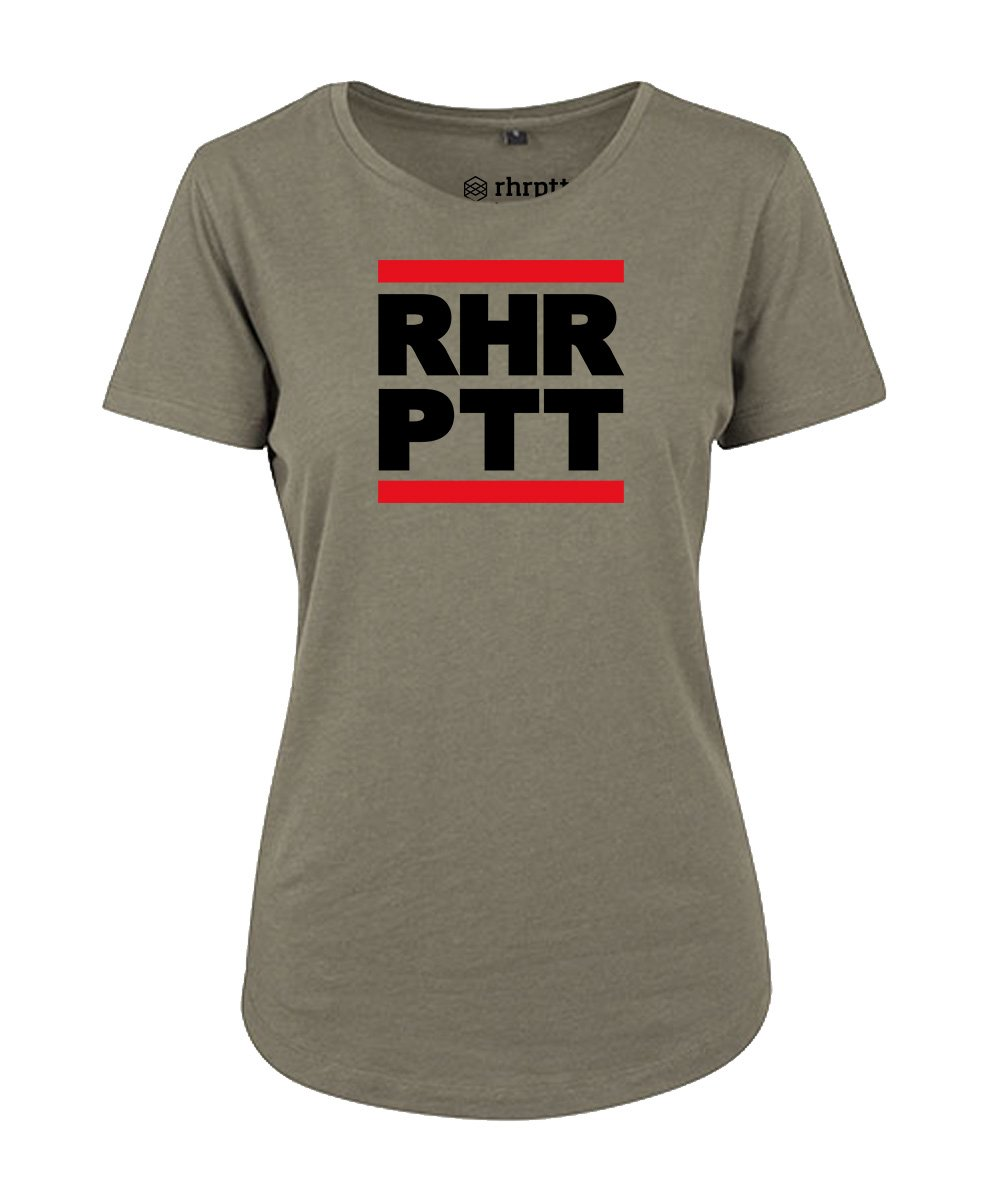 rhrptt t-shirt fit-tee vorne rundmc olive damen