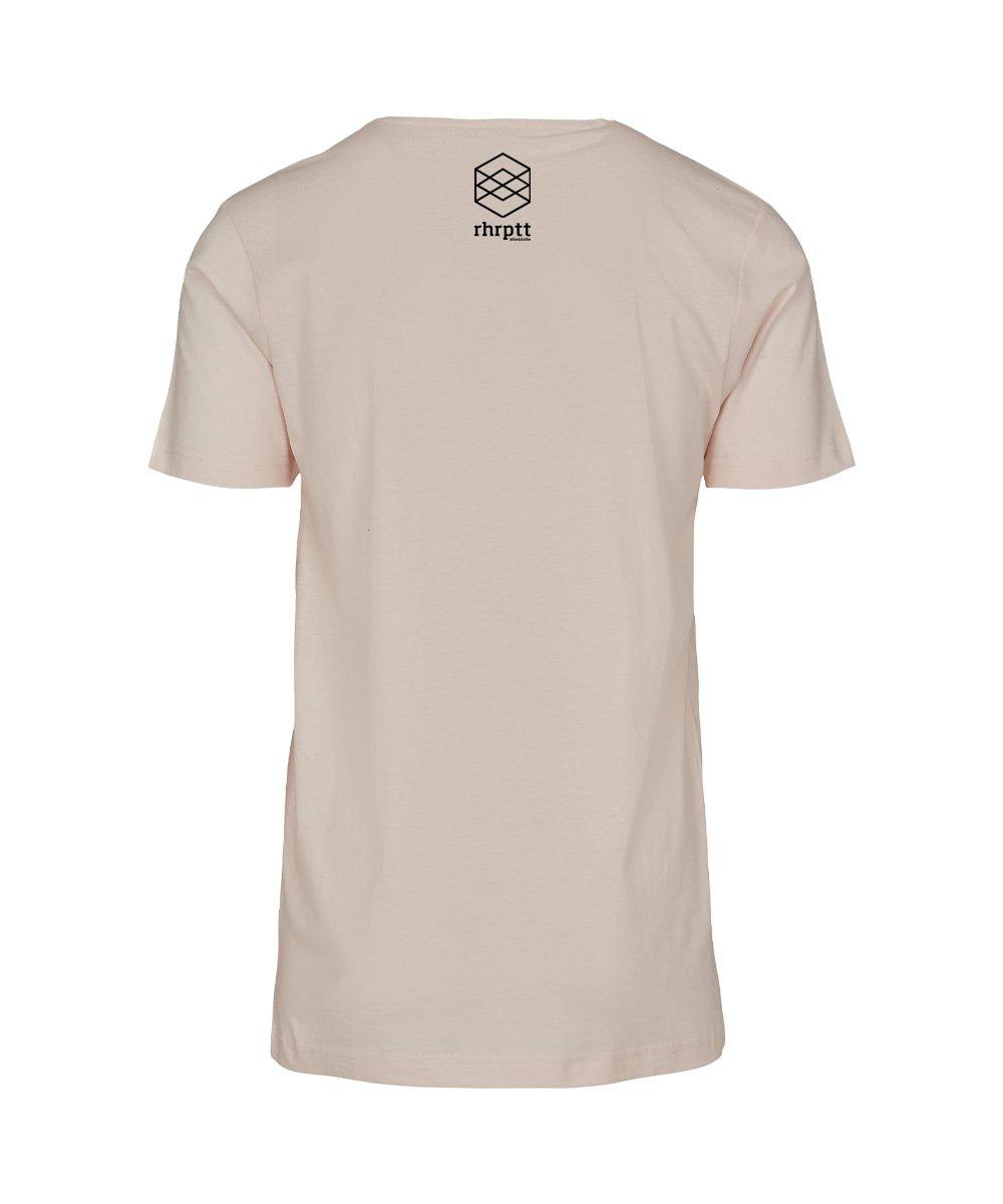 rhrptt t-shirt pink-marshmallow brandlogo hinten