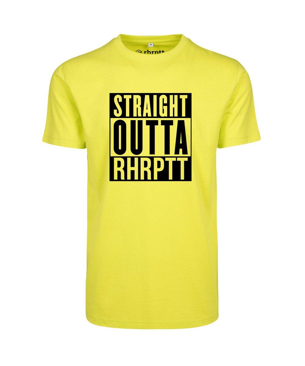rhrptt t-shirt straight outta rhrptt frozen-yellow vorne gross