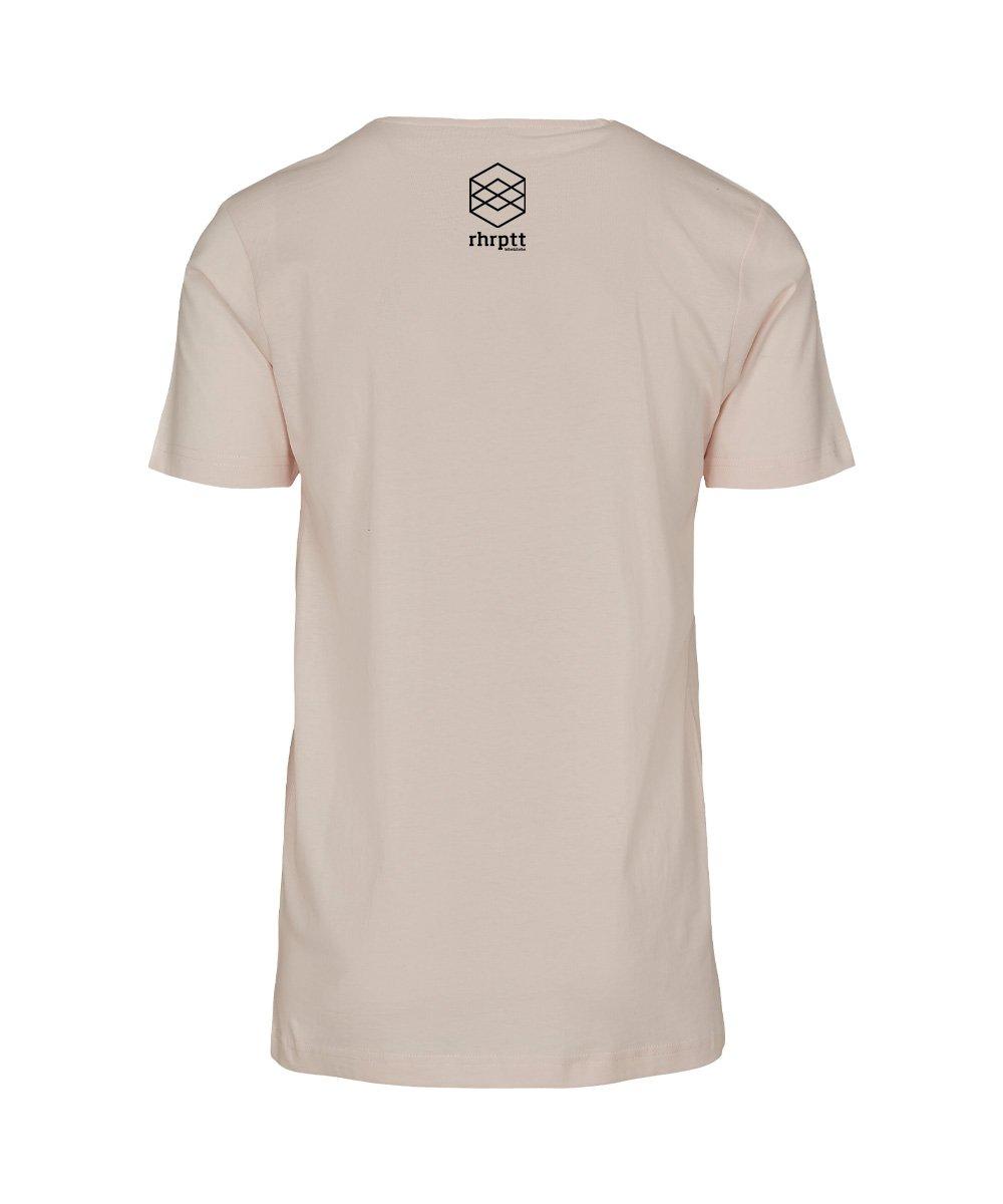 rhrptt t-shirt straight outta rhrptt pink-marshmallow brandlogo hinten