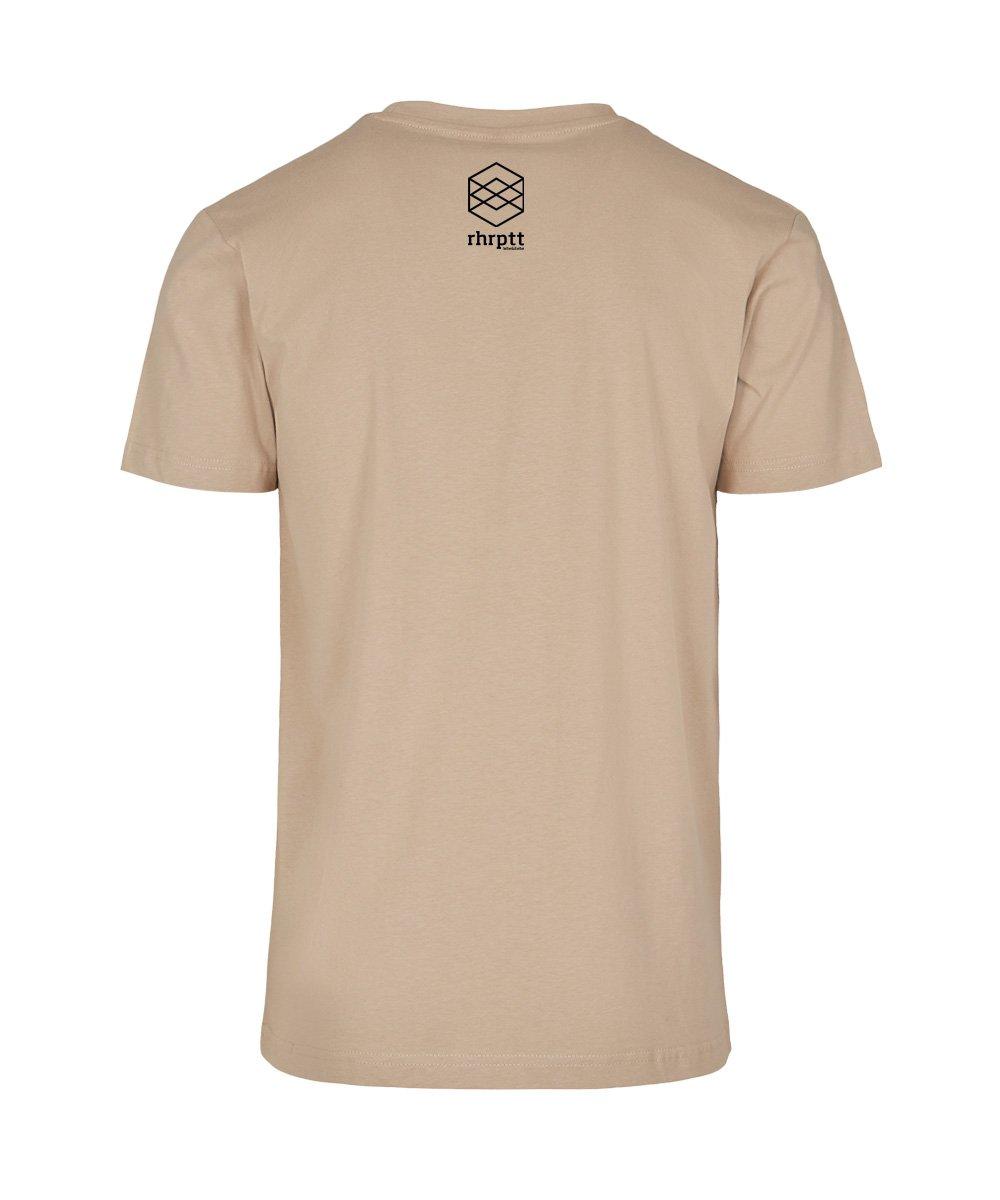 rhrptt t-shirt straight outta rhrptt sand brandlogo hinten