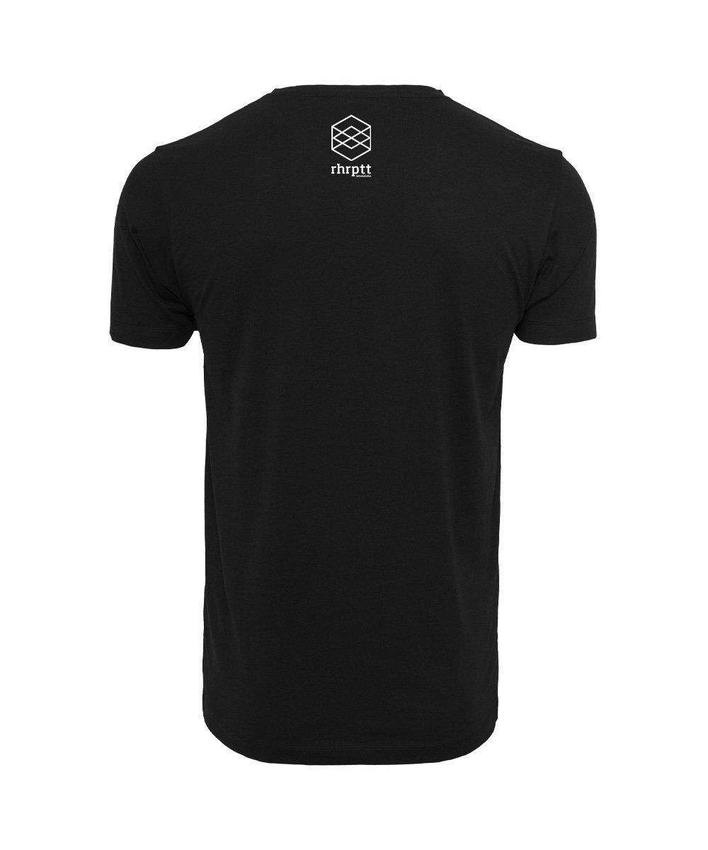 rhrptt t-shirt straight outta rhrptt schwarz brandlogo hinten
