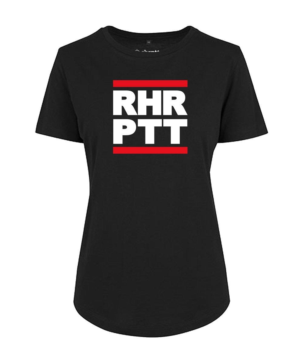rhrptt t-shirt fit-tee vorne rundmc schwarz damen