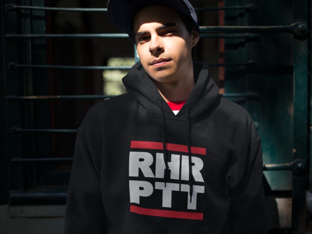 hoodie mockup of a guy wearing a snapback hat at an abandoned train a124892 RHRPTT heisst Ruhrpott