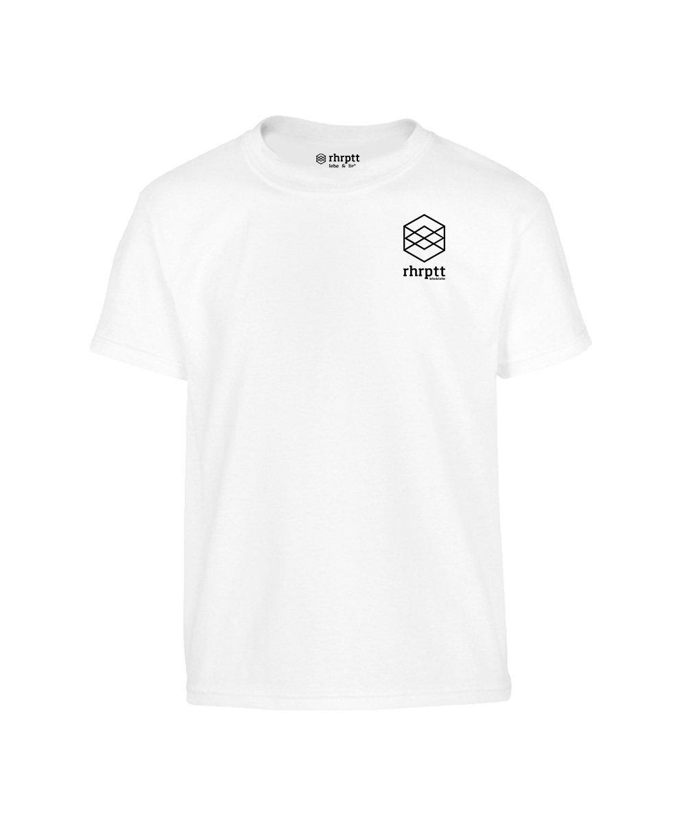 lebe und liebe rhrptt klein kinder t-shirt weiss