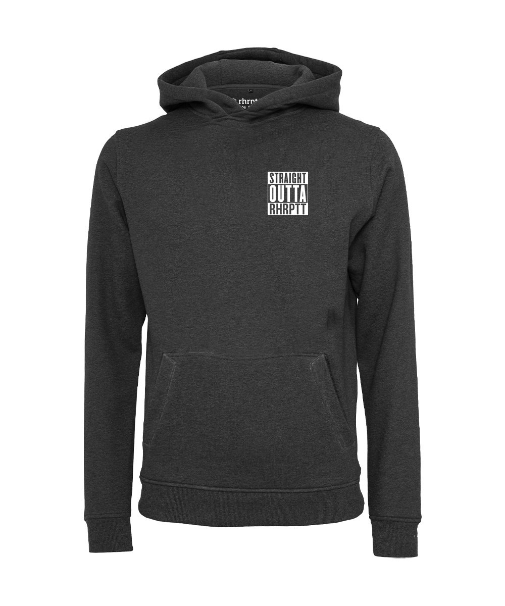 rhrptt hoodie straight outta rhrptt klein charcoal holzkohle
