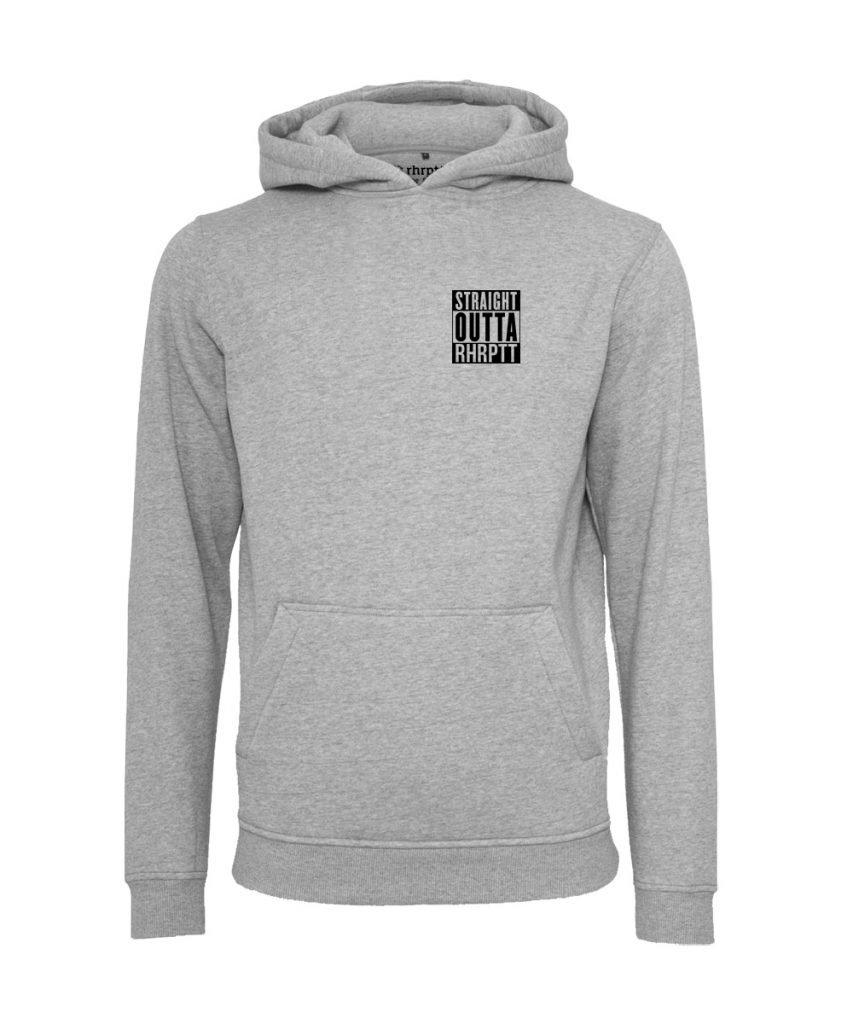 rhrptt hoodie straight outta rhrptt klein heather grey grau