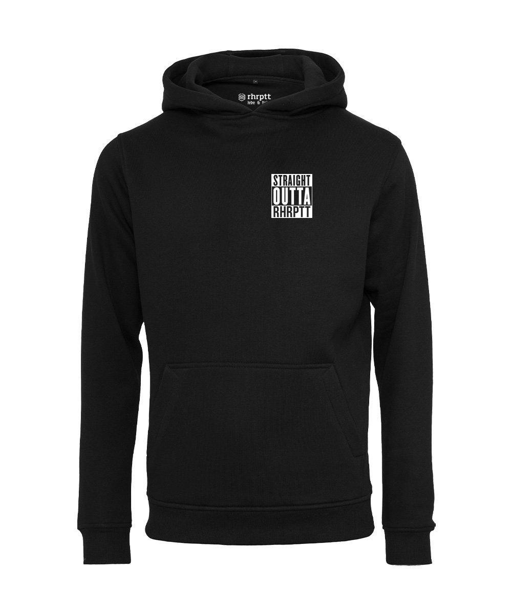 rhrptt hoodie straight outta rhrptt klein schwarz black