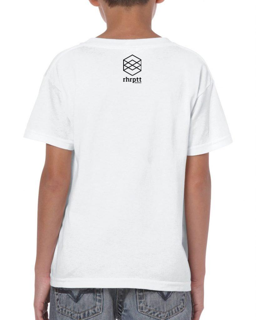 rhrptt kinder t-shirt hinten brandlogo weiß