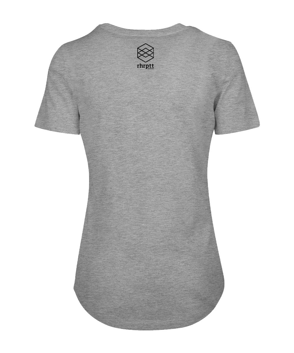 rhrptt t-shirt fit tee heather grey brandlogo hinten