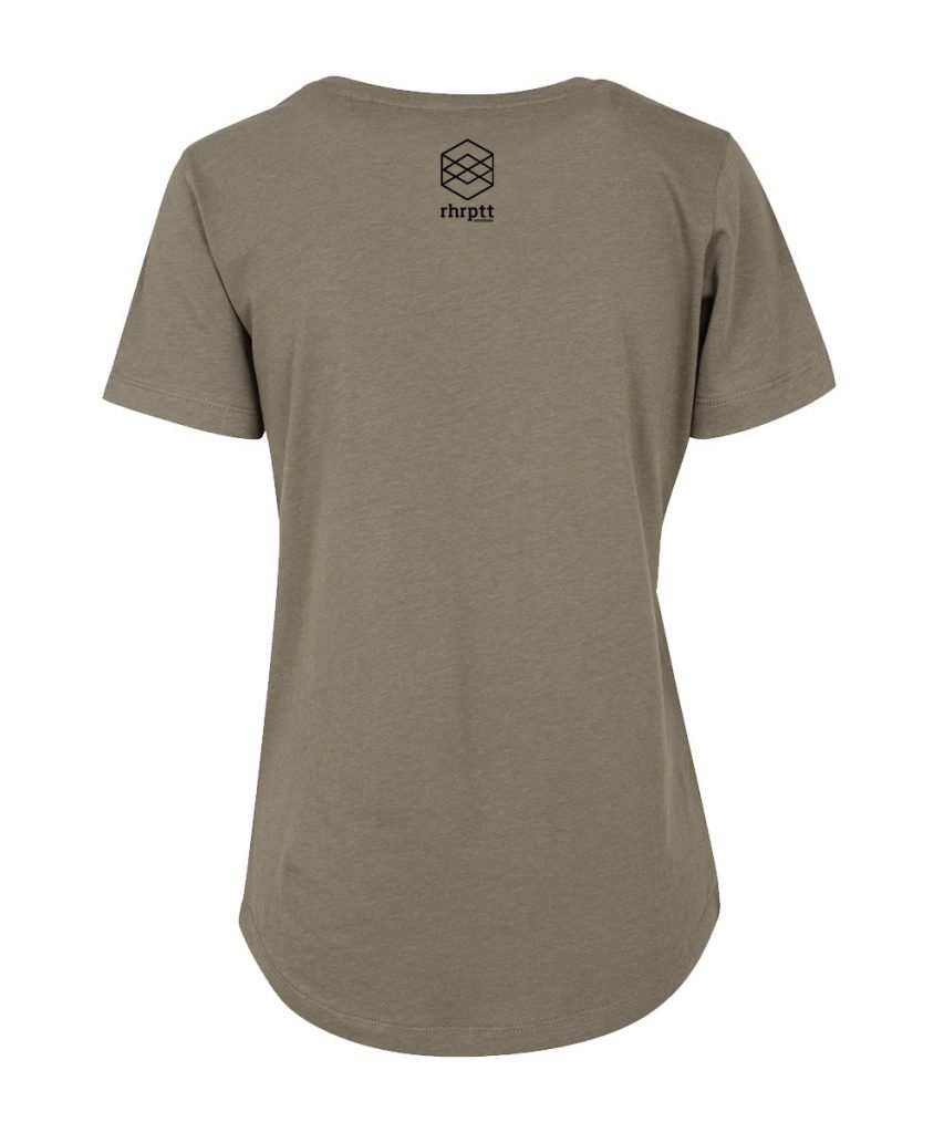 rhrptt t-shirt fit tee olive brandlogo hinten
