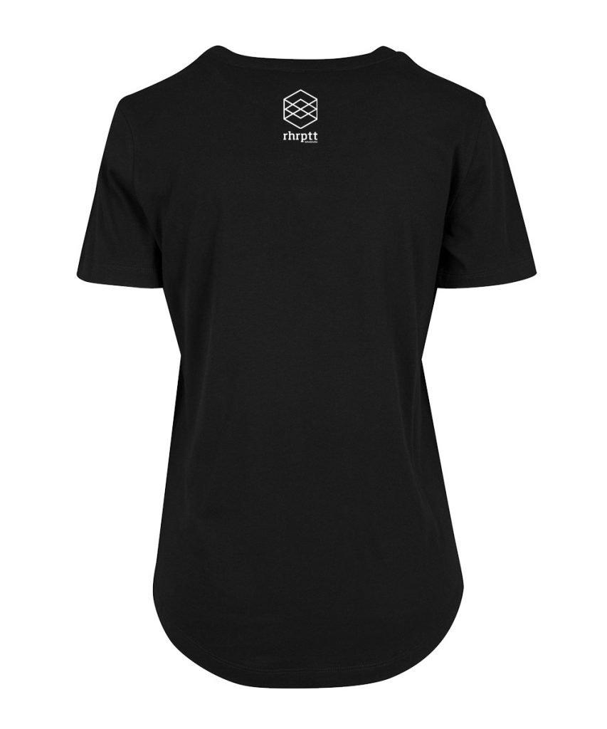 rhrptt t-shirt fit tee schwarz brandlogo hinten