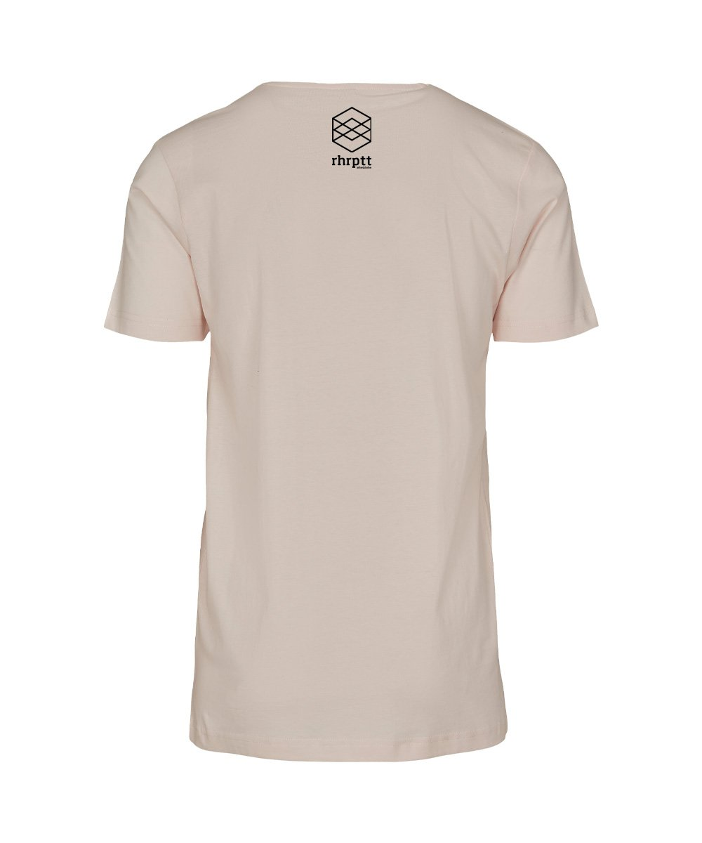 rhrptt t-shirt pink marshmallow pastel pink brandlogo hinten