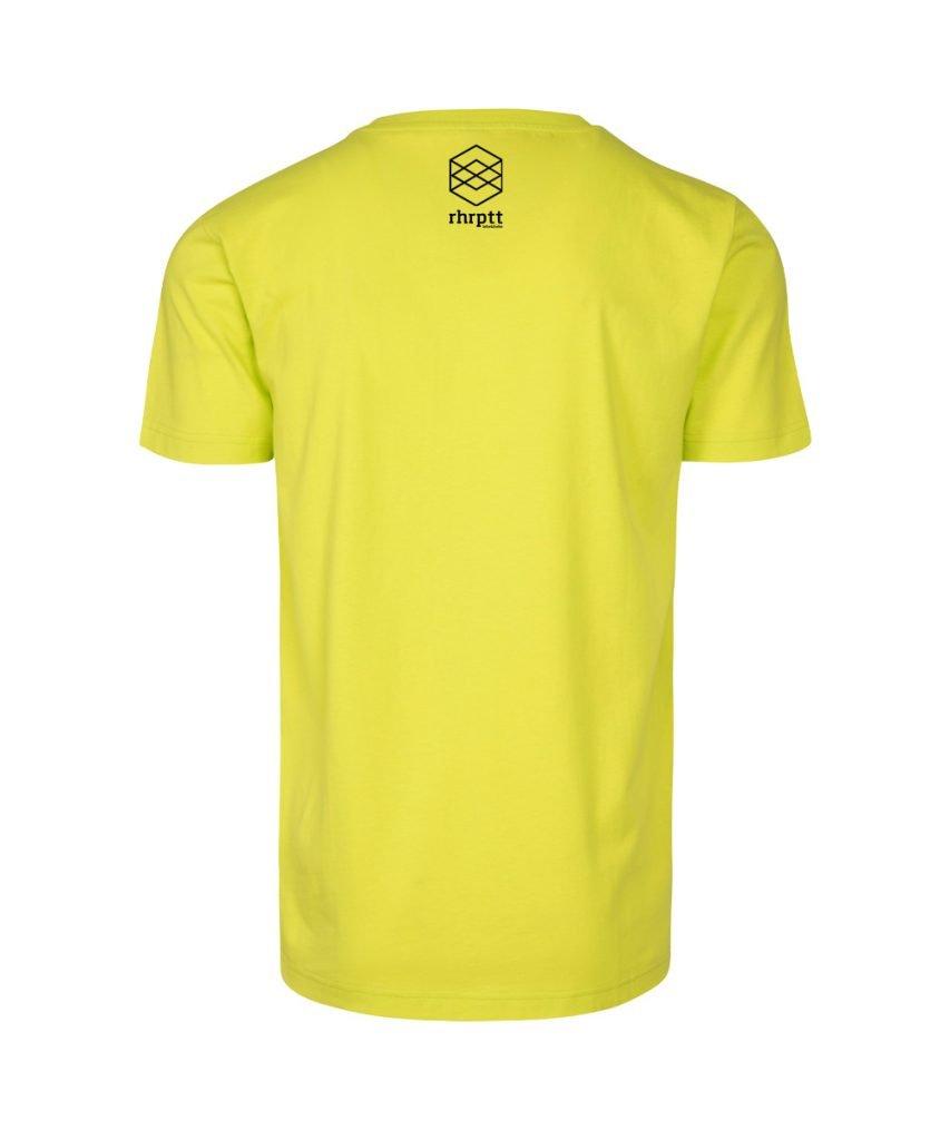 rhrptt t-shirt frozen yellow gelb brandlogo hinten