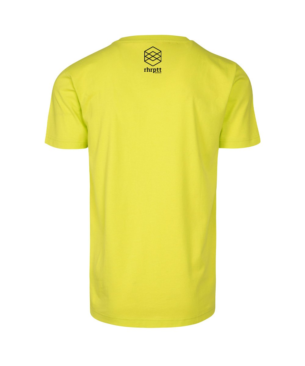 rhrptt t-shirt frozen yellow gelb brandlogo hinten