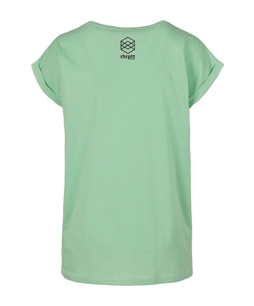 rhrptt t-shirt hinten mint hellgrün frauen damen brandlogo