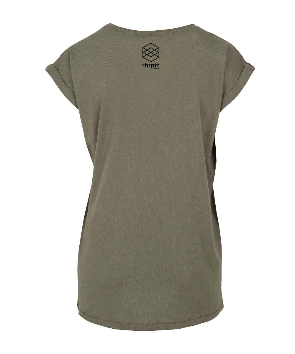 rhrptt t-shirt hinten damen olive brandlogo 1