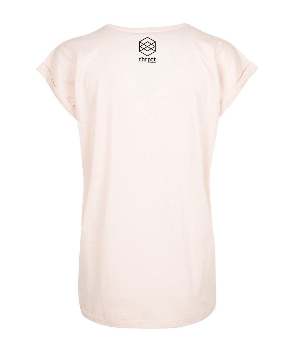 rhrptt t-shirt hinten pink frauen damen brandlogo