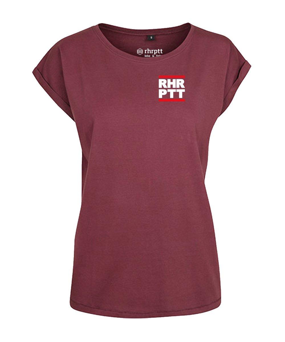 rhrptt t-shirt verkürzte ärmel ruhrpott klein cherry damen