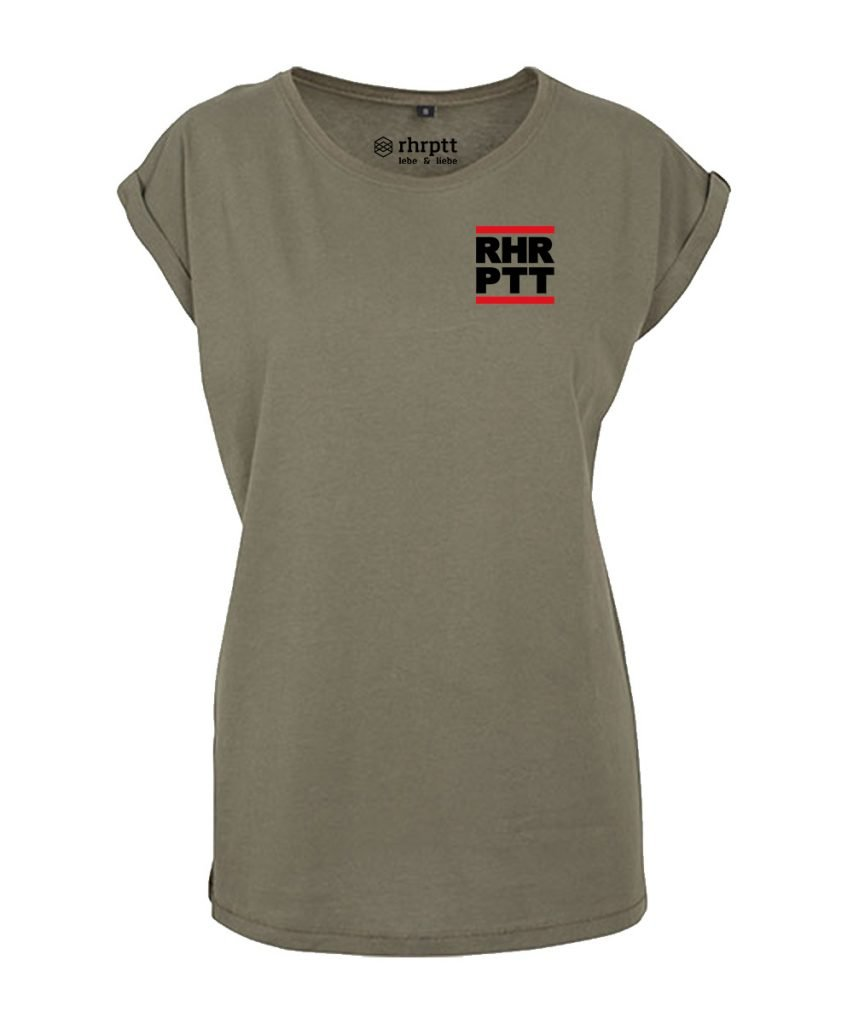 rhrptt t-shirt verkürzte ärmel klein frauen damen olive