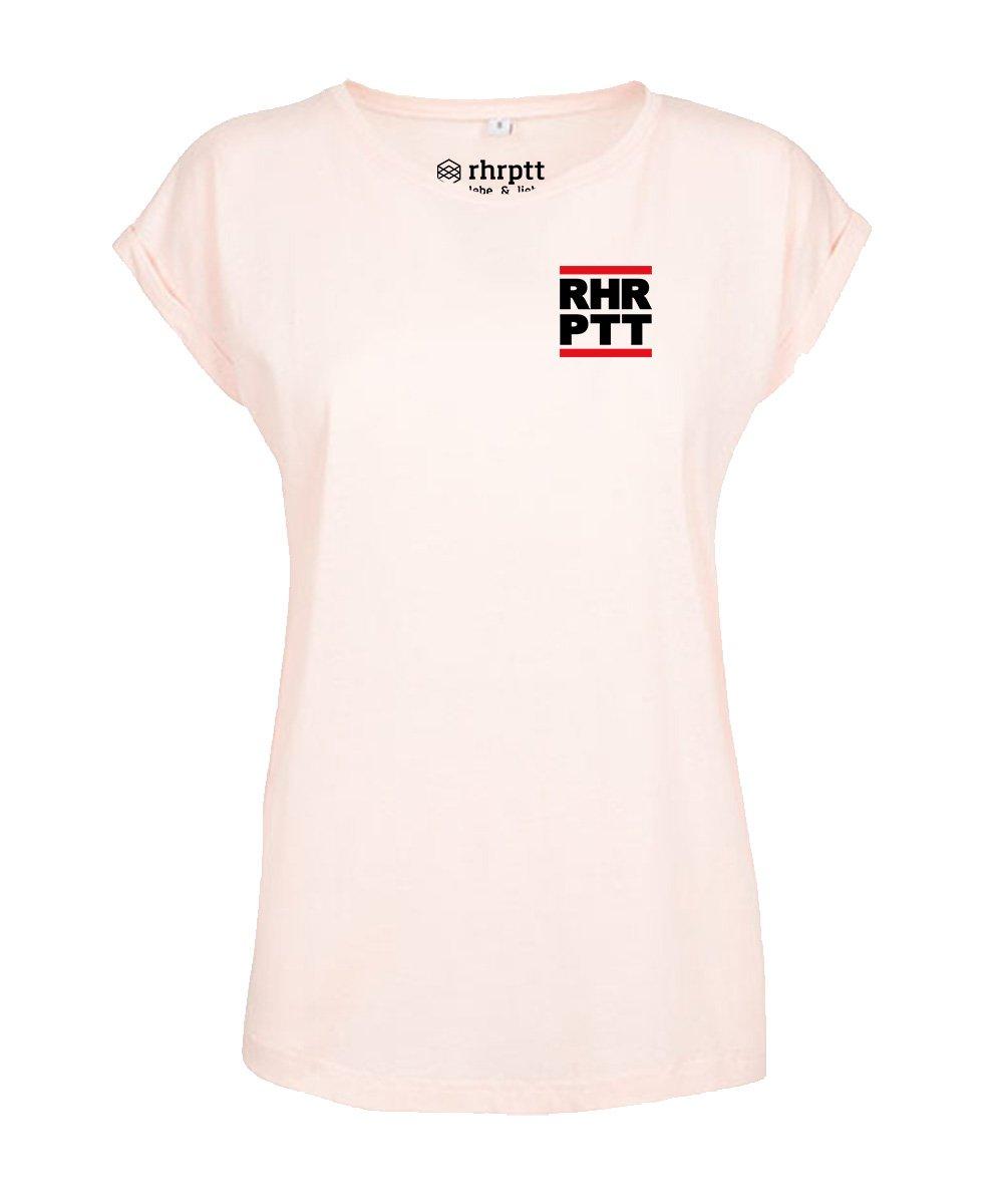 rhrptt t-shirt verkürzte ärmel klein frauen damen pink