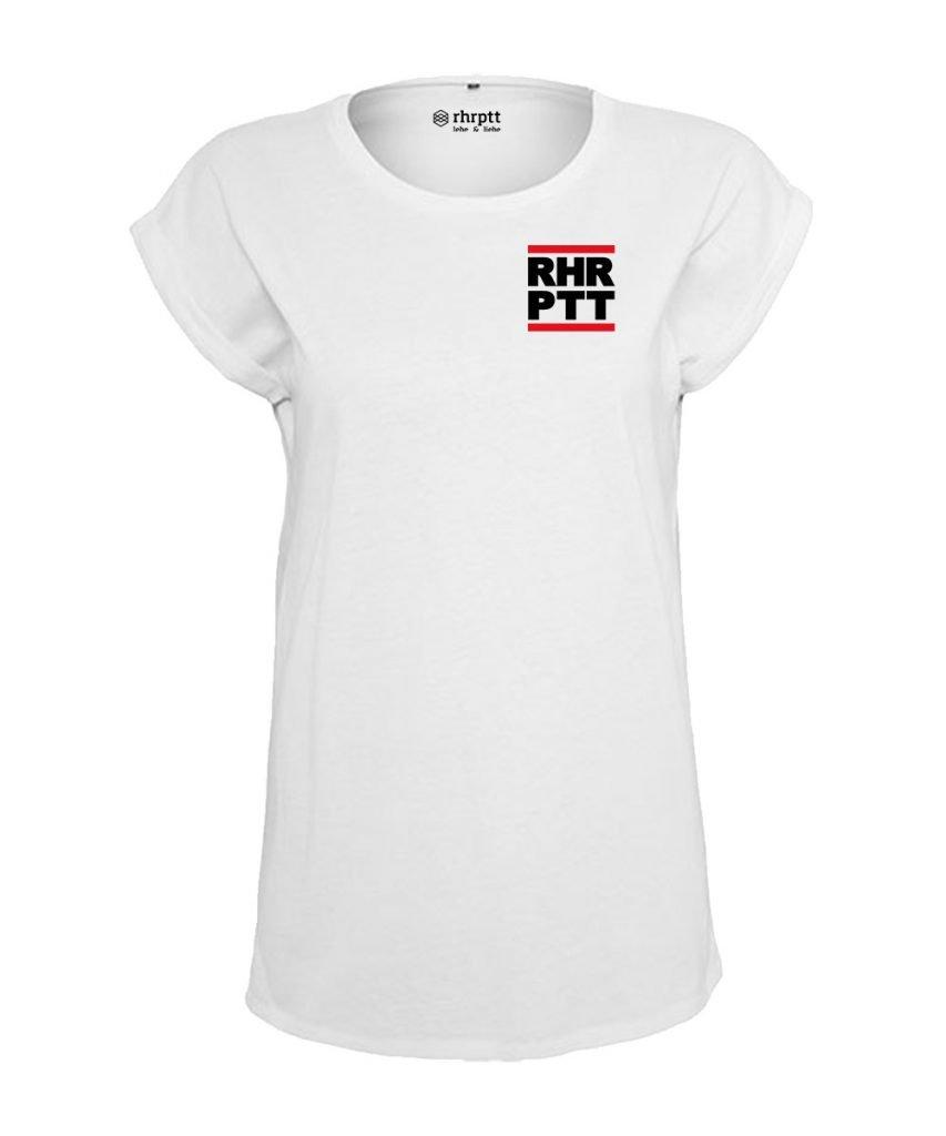 rhrptt t-shirt verkürzte ärmel klein frauen damen weiss