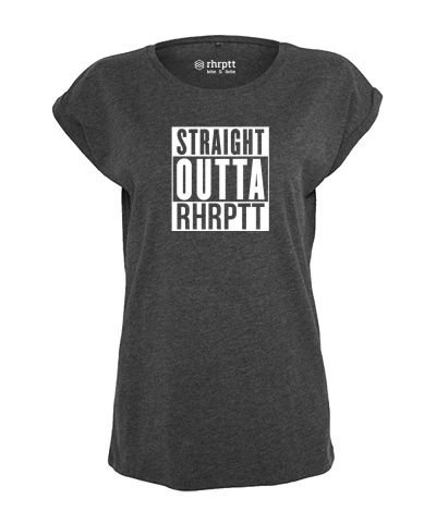 rhrptt tshirt vorne straight outta rhrptt charcoal heather damen