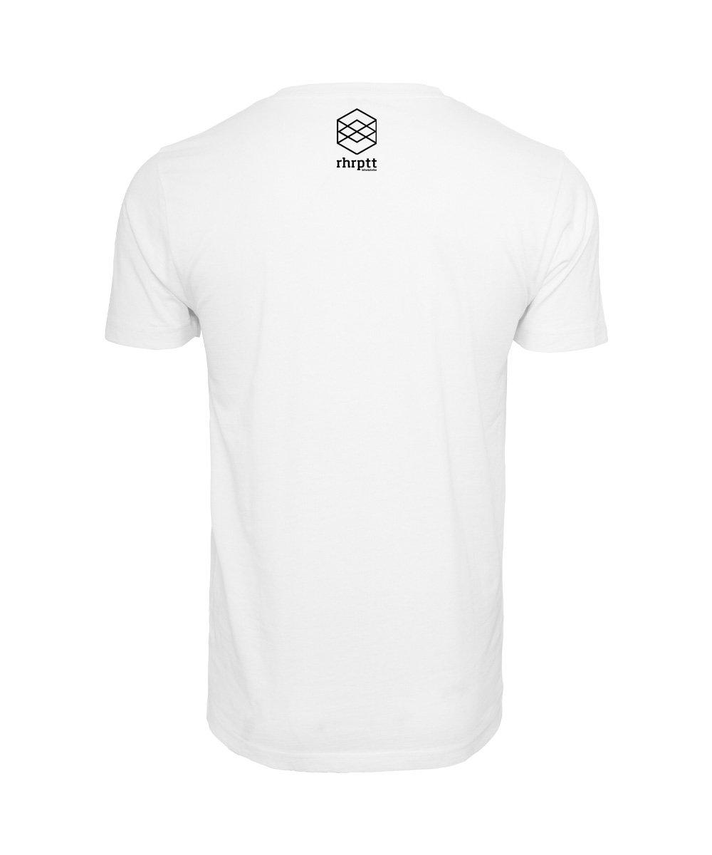 rhrptt t-shirt weiss brandlogo hinten