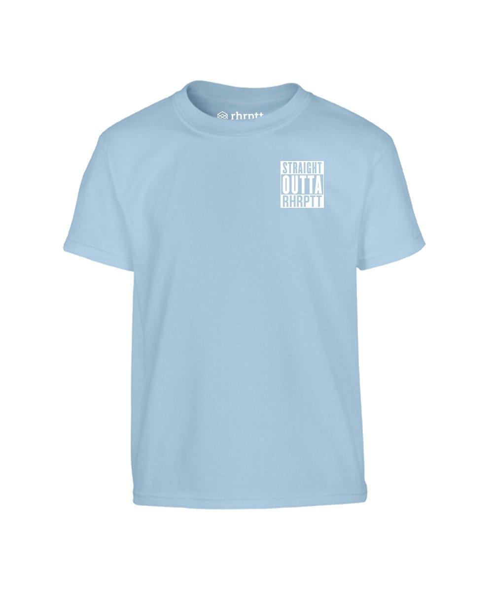 straight outta rhrptt klein kinder t-shirt hellblau