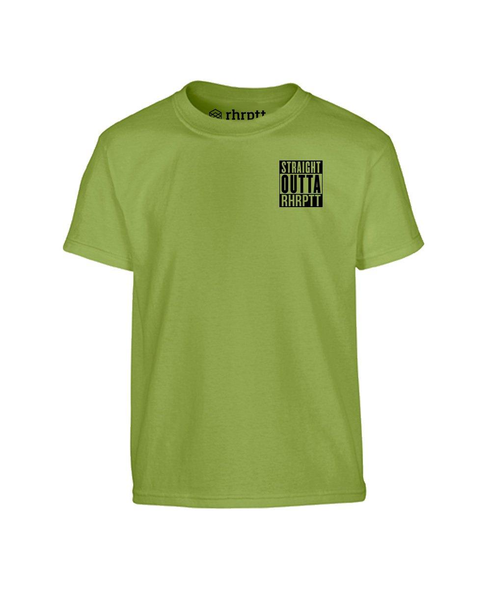 straight outta rhrptt klein kinder t-shirt kiwi grün