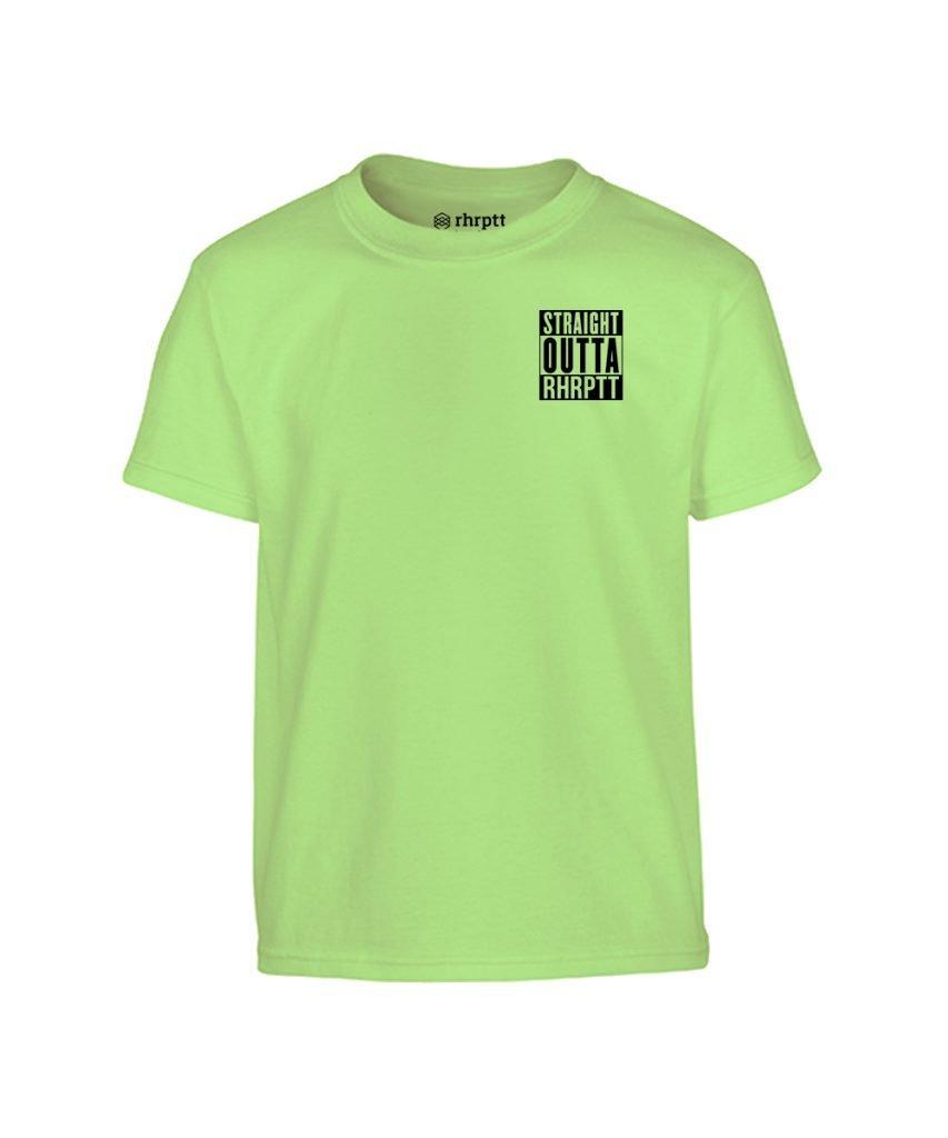 straight outta rhrptt klein kinder t-shirt mint hellgrün