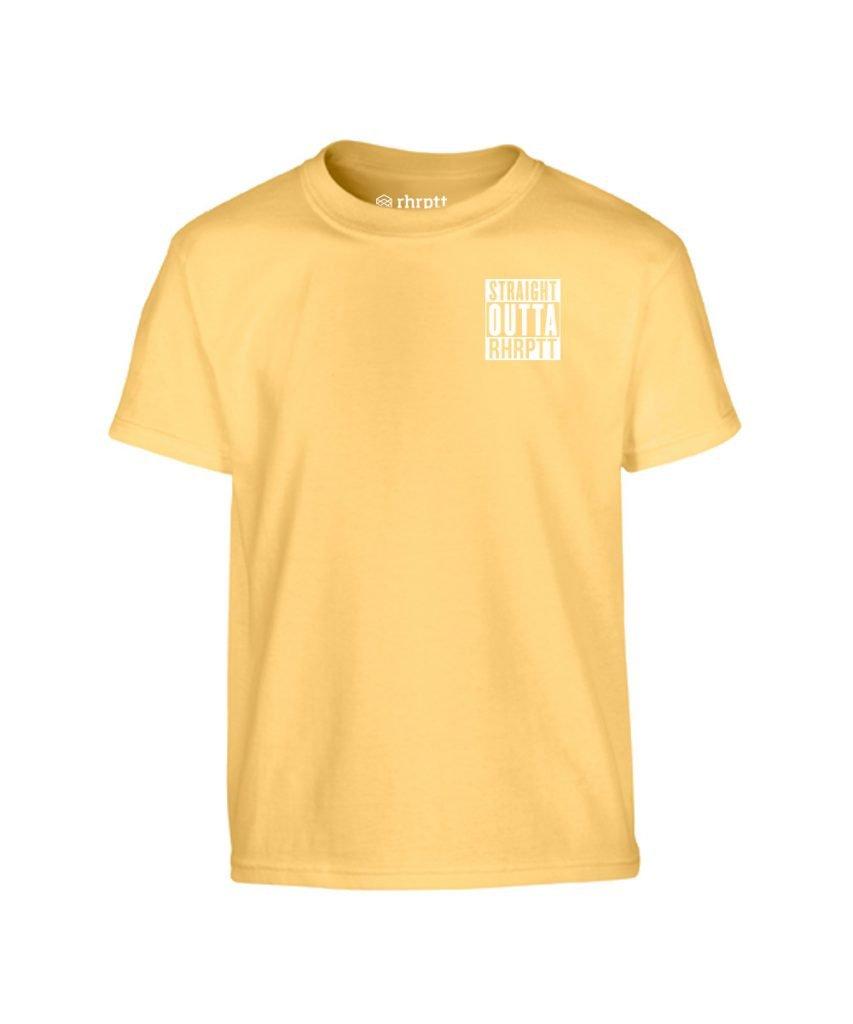 straight outta rhrptt klein kinder t-shirt yellow haze gelb