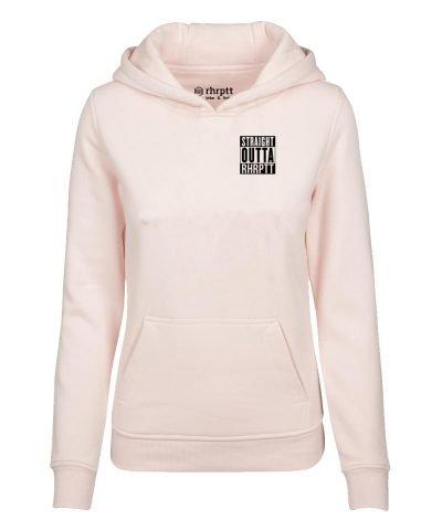 straight outta ruhrpott klein hoodie kapuzenpullover damen frauen pink
